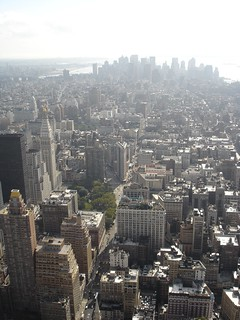 Flatiron and New York Life Insurance Buildings as seen from Empire State Building