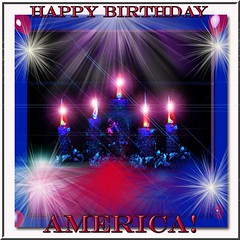HAPPY BIRTHDAY AMERICA (fantartsy JJ *2013 year of LOVE!*) Tags: light red usa holiday color beauty america joy americanflag celebrations godblessamerica july4th independenceday hooray starspangledbanner whiteblue happybirthdayamerica thesuperbmasterpiece graphicmaster