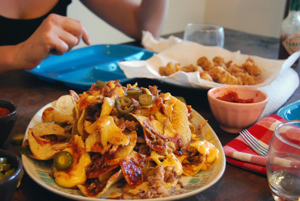pulled pork nachos!