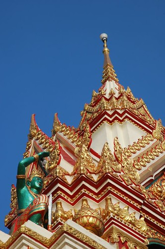 Bright colours at Wat That Phanom