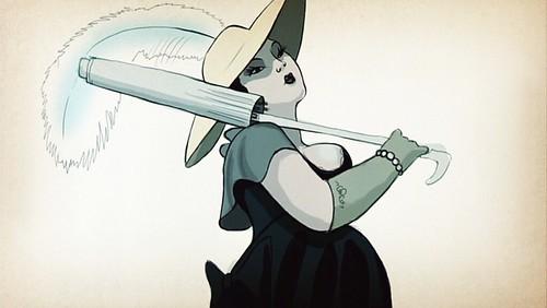 mrshendersonpresents_openingcredits_plumpladywithumbrella