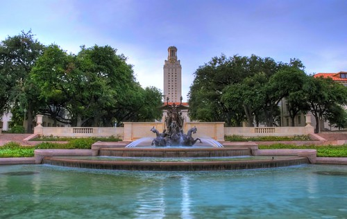 The majestic fountain at UT