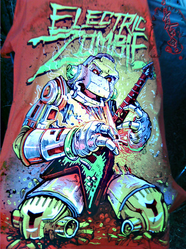 """Electric Zombie"" limted edition - Shock Wave Orange { Metalhead }  Tee .. design by Kyle Crawford //  A (( 2009 ))"
