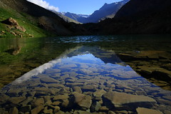 Reflections - Explored#29 (Frame of Reference) Tags: blue lake reflection green water landscape day save3 save save2 clear leh taal ladakh kullu baralachala deepaktaal
