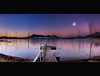 Wide and High, from Water to Sky, my Vision and Eye ........... No I'm not High... ([ Kane ]) Tags: trees sky moon cold water dawn australia brisbane panoramic qld queensland kane hdr deadtrees gledhill lakemoogerah kanegledhill wwwhumanhabitscomau kanegledhillphotography