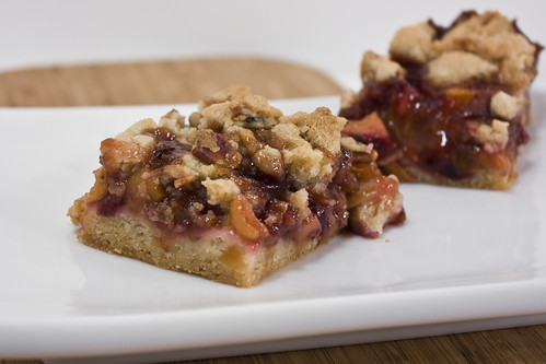 Cherry Peach Crumb Bars