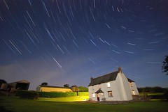 Star Trails: Holiday home (AndWhyNot) Tags: blue light sky farmhouse star cornwall no trails andrew images pollution lovely stacked whyte andwhynot startrailsexe 08055015566