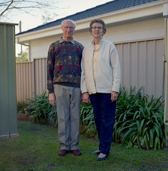 Doug and Joy. (Stu.Brown) Tags: portrait rolleiflex nc 400 sl66 portra