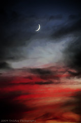 Moon Art (Saildog Photography) Tags: blue sunset red sky moon white art night clouds evening florida gray explore jacksonville fl filters jax northflorida northeastflorida fbdg saildog