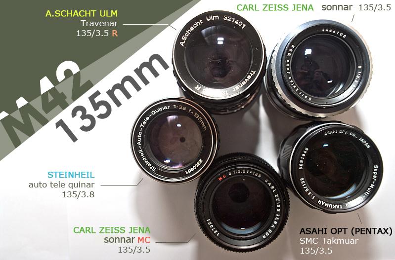 (M42) 五顆 135mm 測試