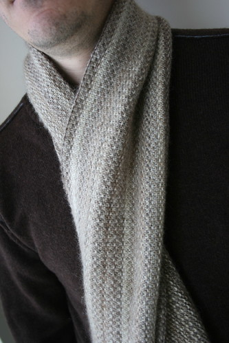 Alanna Nelson knits mens cashmere scarves Boston