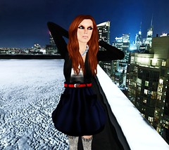 On top of the city... (Channen GossipGirl) Tags: fashion sl pk thimbles papercouture 3cupcakes armidi flowey michami bohobabe channengossipgirl
