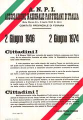 2 giugno 1946 (anpi.bologna) Tags: poster manifesto liberazione 25aprile