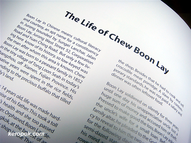Boon Lay is named after Chew Boon Lay