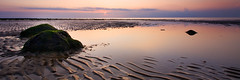 Old Hunstanton (doddie79) Tags: uk sunset sea panorama seascape seaweed beach canon reflections landscape coast rocks norfolk panoramic lowtide geology 1022mm eastanglia petrifiedforest hunstanton cretaceous greenrocks