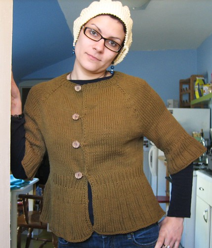 090314. diminishing rib cardigan - all buttoned up.