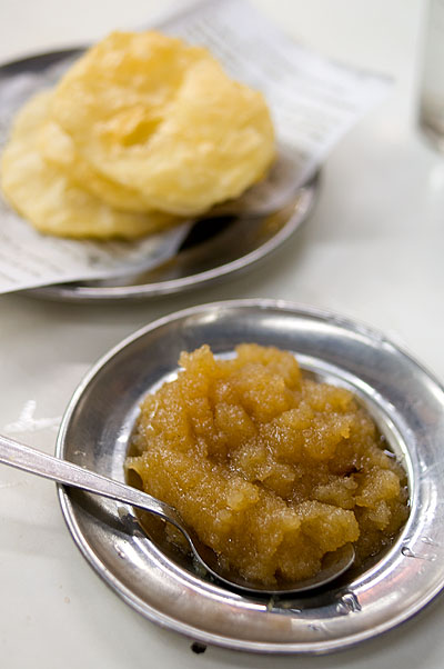 Poori and halwa, Dhaka, Bangladesh