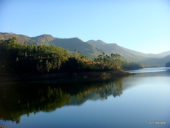 morning at madupetty (sunilkallada) Tags: sky india nature water colors reflections river sony kerala munnar sunilkumar madupetty sunilkallada