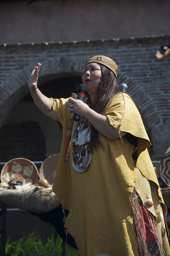Storyteller/performer Jacque Nunez was a highlight at Capistrano. But in general, the Native side of the story at the Missions is always worth seeking out.