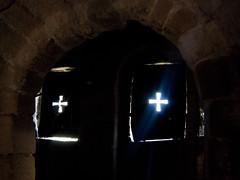 The Eyes of God (kate  la mode) Tags: light sky church window stone countryside iglesia crosses asturias shutters oviedo asturies santamariadelnaranco
