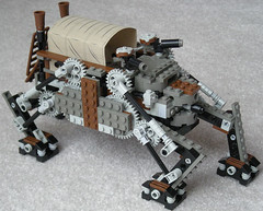 Heavy Steam Quad-Walker Mk. XXX (Troop Transport Variant) (front) (aillery) Tags: war lego military great transport quad steam walker machines troop variant