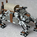 Heavy Steam Quad-Walker Mk. XXX (Troop Transport Variant) (front) by Pain Parade