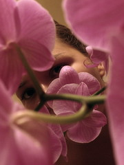 softpink (Jennifer_Jean) Tags: pink abstract orchid flower eye girl eyes soft looking lookingthrough pinkorchid girlandflower