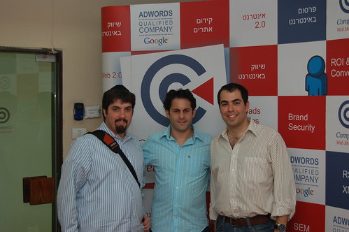 Barry Schwartz, Ophir Cohen & Olivier Amar at SEM Meetup Tel Aviv, Israel