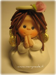 My name is Angela (marytempesta) Tags: pink roses wings polymerclay angels communions mmmilikeit