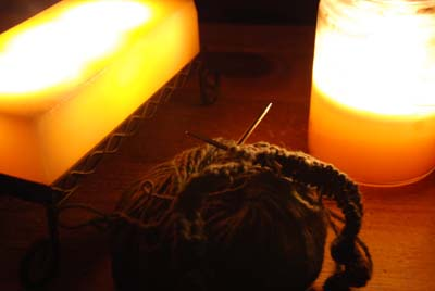 earth hour knitting