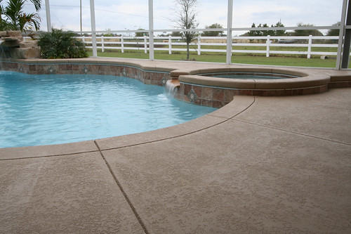 Seal-Krete Floor-Tex Application on a Pool Deck