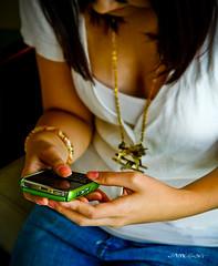 Addiction... (flick3rs) Tags: green girl mobile pretty blackberry cellphone rim bold crackberry james3g bold9000