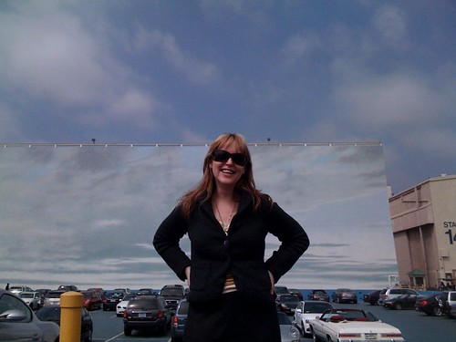 "Me in front of the ""big sky"" on the Paramount lot in Hollywood"