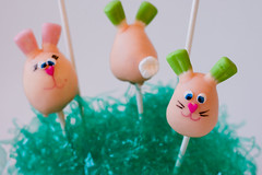 Bunny Cake Pops...sort of!