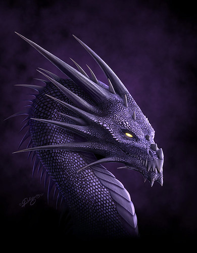 Purple Dragon by Nick Deligaris