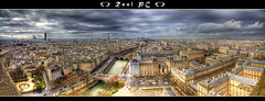 Paris - adventure at the top of Notre-Dame :: Panorama :: HDR (raul_pc) Tags: paris church seine canon river eos sigma notredame igreja bp 1020 hdr sena 450d abigfave platinumphoto baladesparisiennes