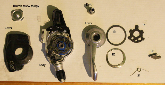 x9 trigger rebuild after being an idiot bikeradar forum rh bikeradar com SRAM 7-Speed Shifter SRAM Twist Grip Shifters