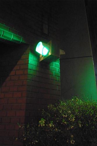 駐車場の光