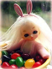 After all the eggs are delivered ... (Dymphna ) Tags: bunny easter beans bath dolls lily candy jelly bjd willa wisp puki