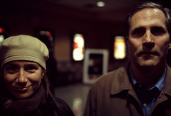 the olson's (intheclearkid) Tags: leica city nyc newyorkcity newyork cold face night analog canon dark 50mm couple downtown bokeh availablelight midtown upclose e6 manhatten m6 portriat straightfromcamera happysad gloomyheart canon50mmf12ltm