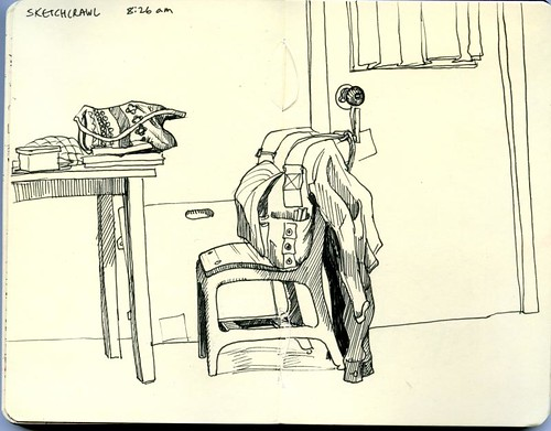 Bozeman sketchcrawl: at home in the morning