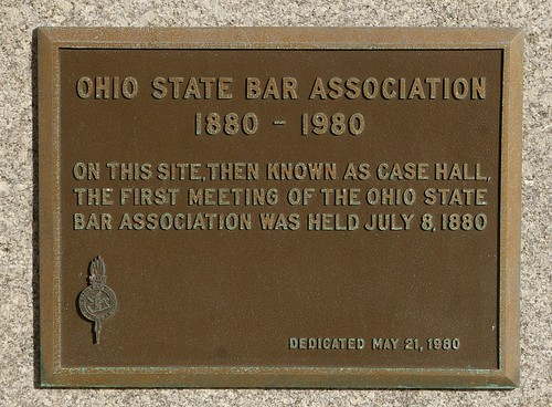 Ohio State Bar Association historical marker