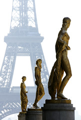 A Tour de Force (The Green Album) Tags: paris gold women europe dof eiffeltower statues palaisdechaillot mywinners abigfave superaplus aplusphoto theunforgettablepictures platinumheartaward