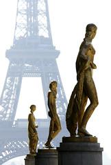 A Tour de Force (The Green Album) Tags: paris gold women europe dof eiffeltower statues palaisdechaillot mywinners abigfave superaplus aplusphoto theunforgettablepictures platinumheartaward