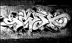 abandoned7 (Kenneth McNeil) Tags: bw abandoned wall contrast copenhagen graffiti empty tag highcontrast tags smashed destroyed 2009 dilapidated 1224 rundown abandonedbuilding abandonedbuildings amager emptyspaces blackwhitephotos kennethmcneil