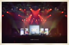 center{stage} (isayx3) Tags: lighting lights concert blurry nikon bokeh stage center outoffocus 28 24mm nikkor f28 d3 oof