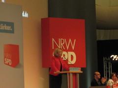 Hannelore Kraft auf dem SPD-Landesparteitag NRW in Halle