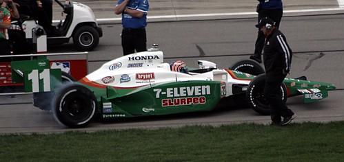 Tony Kannan smoking the tires during quali.  Photo: Doug Patterson