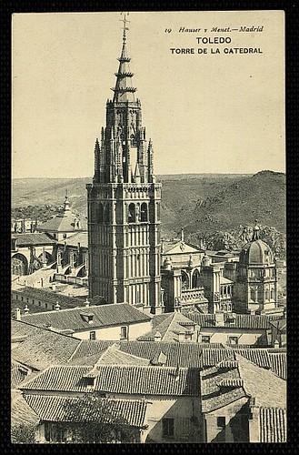 Catedral de Toledo con su Cimborrio en 1907. Foto Hauser y Menet
