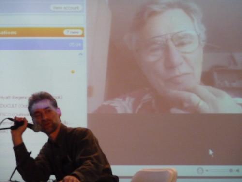 Eric Leonardson and Bernie Krause conversing